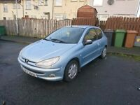 Peugeot 206 for sale. Ideal first car or run around.