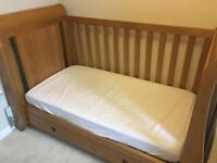 Solid wood sleigh cot bed