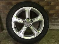 "Audi 17"" 5 Spoke Alloys with Michelin Tyres"