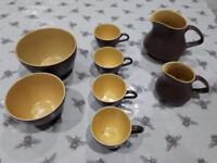 Poole Pottery Twintone Tea Set Pieces