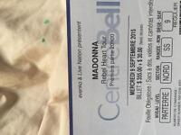 2 Floor Madonna Tickets- September 9