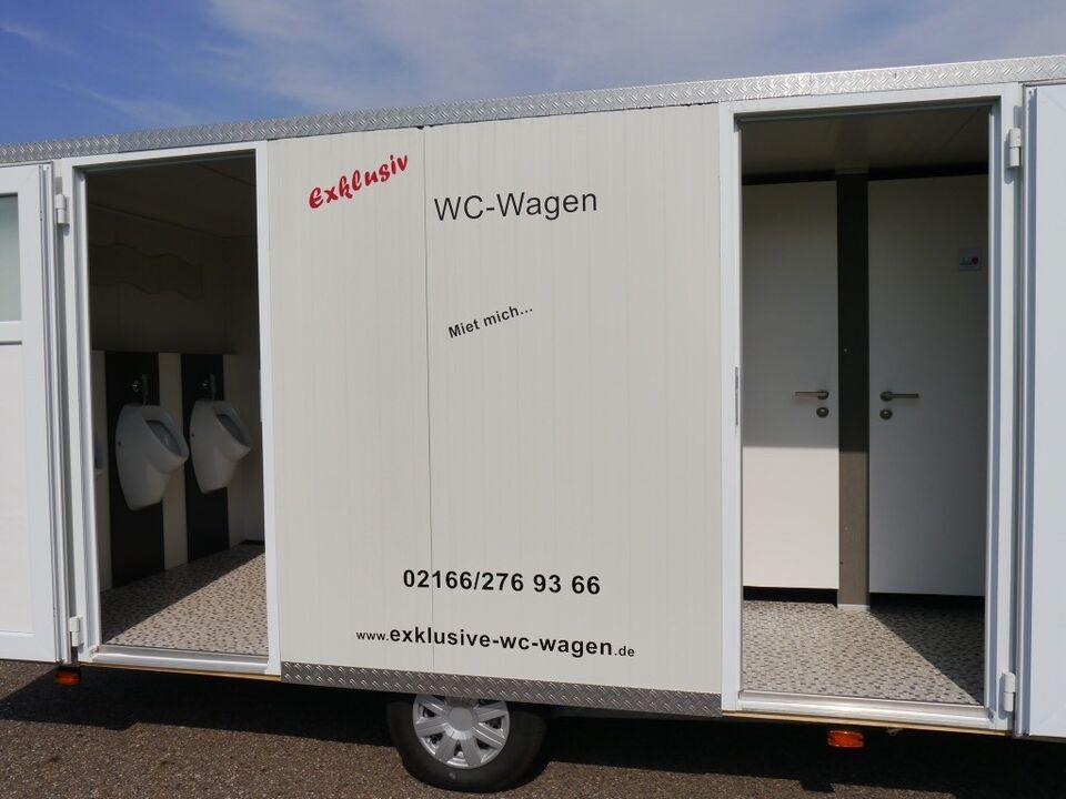 """Exklusive WC Wagen Vermietung, Toilettenwagen """"Modell Maxi 1"""" in Mönchengladbach"""