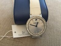 Ladies Swarovski watch with leather strap