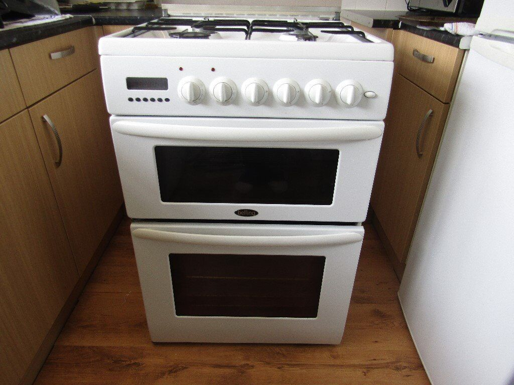 belling dual feul double oven cooker
