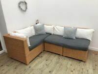 Wicker Corner Sofa -SOLD
