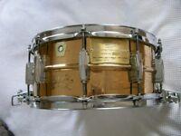 "Ludwig 75th Anniversary seamless bronze Superensative snare drum - 14 x 6 1/2"" - Chicago - '84 - #23"
