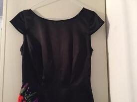 Lipsy black fitted dress 8