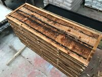Waneylap fence panels 10mm boards pressure treated brown