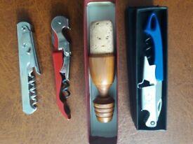 vintage wine bottle openers and vintage stopper