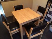 John Lewis Extendable Dining Table & 4 Chairs