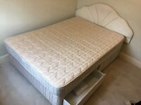 Double bed and mattress with drawer and for storage