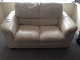 Three piece leather sofa (3,2 and single seaters)