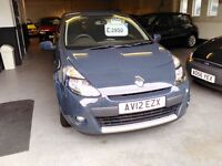RENAULT CLIO 1200CC FSH 12 MONTH MOT NONE PREVIOUS KEEPER WITH 6 MONTH WARRANTY