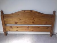 Two Pine King size Headboards.. 5ft. wide. Excellent condition