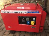 6 KVA Silent Diesel Generator - DEK SL5000- As new, only run monthly and never used for gen. power