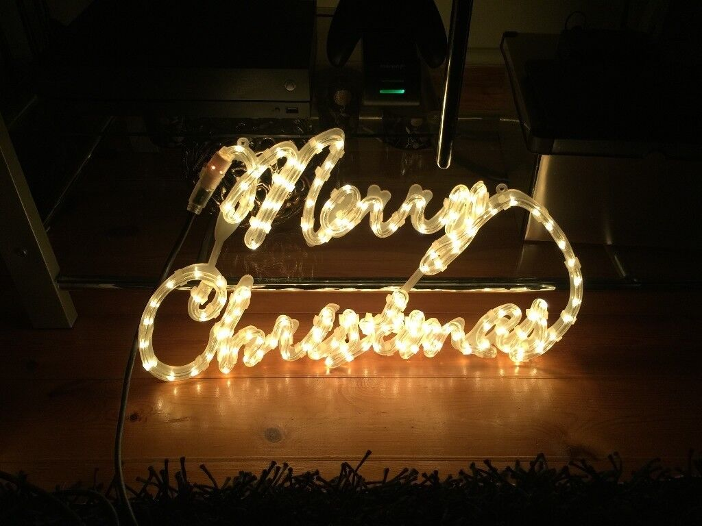 Merry christmas led rope light ip44 rated indoor or outdoor use in merry christmas led rope light ip44 rated indoor or outdoor use aloadofball Images