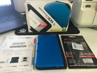 Blue Nintendo 3DS XL with 16 GB card