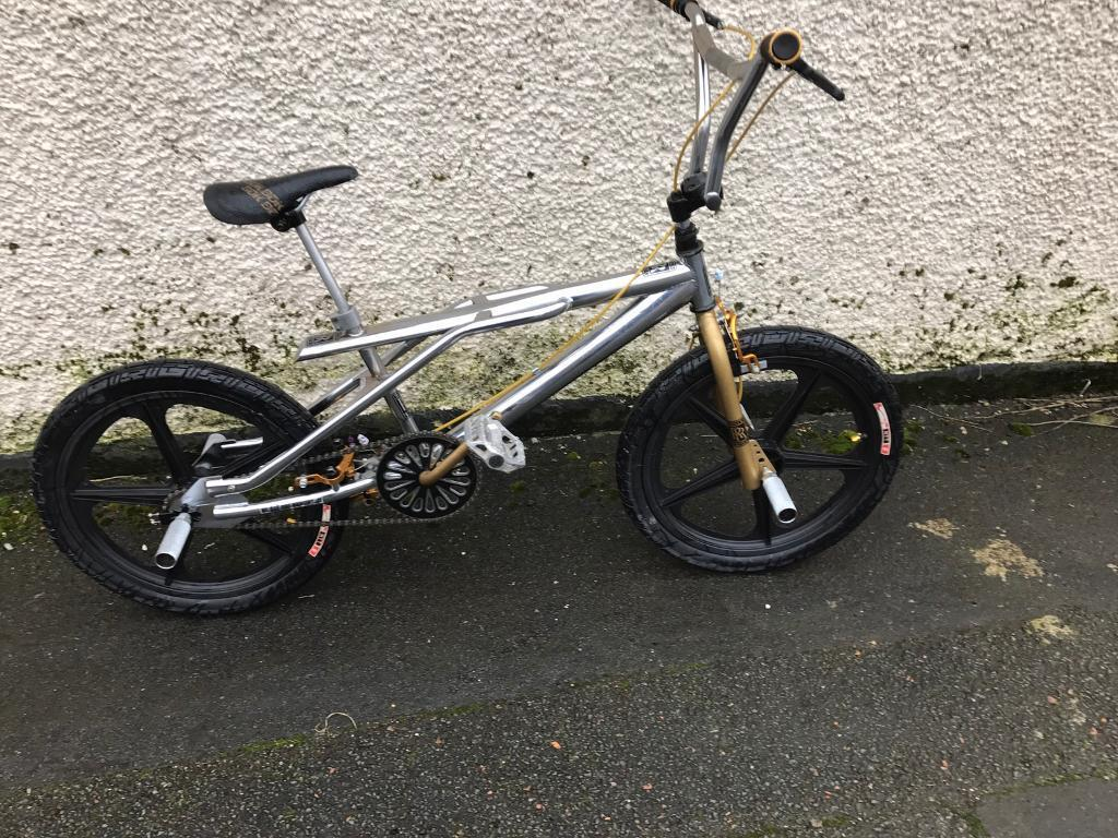 Very Rare Royce Union Bmx Bike In Shining Chrome In Bacup