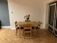 Mark's and Spencer's oak extendable table and 4 chairs very good condition