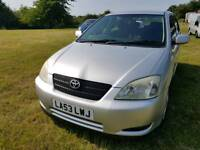 Toyota corolla t3 vvti 2004 manual one owner from new cheap car Kent bargain