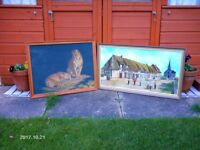 TWO OIL PAINTINGS OLD BUT IN GREAT CONDITION