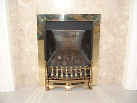COAL EFFECT MULTIFLUE GAS FIRE - BRASS FINISH