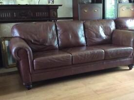 321 real leather suite Retro style. £350 Ono. Phone derry 71351092