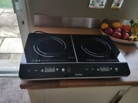 2 ring induction hob portable