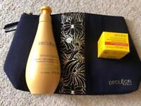 Decleor Aroma Confort Gradual Glow Body Milk 250ml, Intense Nutrition Lip Balm & Bag, Brand New