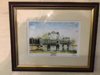 Gorgeous Jonathan Watson signed limited edition print The Ferry Bridge