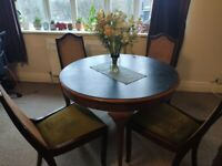 Round Dining Table with Chalkboard Top