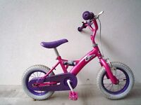 "(2109) 12"" DISNEY PRINCESS Girls Kids Childs Bike Bicycle + STABILISERS Age: 2-4; Height: 85-100 cm"