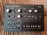 KORG monotribe analogue synthesizer synth, drums & sequencer with CV GATE cable