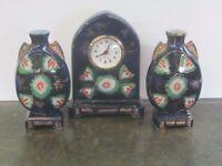 A modern clock garniture