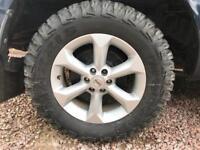 Nissan Navara x4 wheels with mud tyres