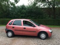 Vauxhall Corsa 1.2 petrol 2001 service history mot June 2017 low insurance 48+ mpg