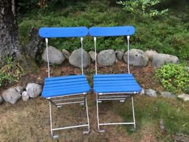 Vintage bandstand chairs