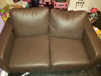 2and 3 seater leather sofa for sale like new cushion remove from back need gone as moving