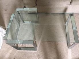 Coffee table and side set