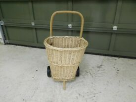 Brand New Rattan/Cane Wheeled Shopping Trolley