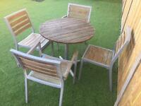 Garden table and 4 chairs (delivery available)