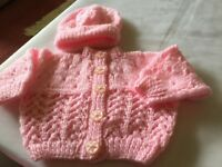Brand new hand knitted baby cardigans £3 each can deliver if local call 07812980350