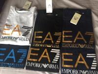 Designer T-shirts EA7 Armani Versace Moncler