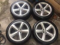 "Geniune Audi Alloy wheels 18"" with tyres, excellent condition, A3,A4,A6,A5"