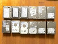 12 Various IDE ATA Hard Disks - All working.
