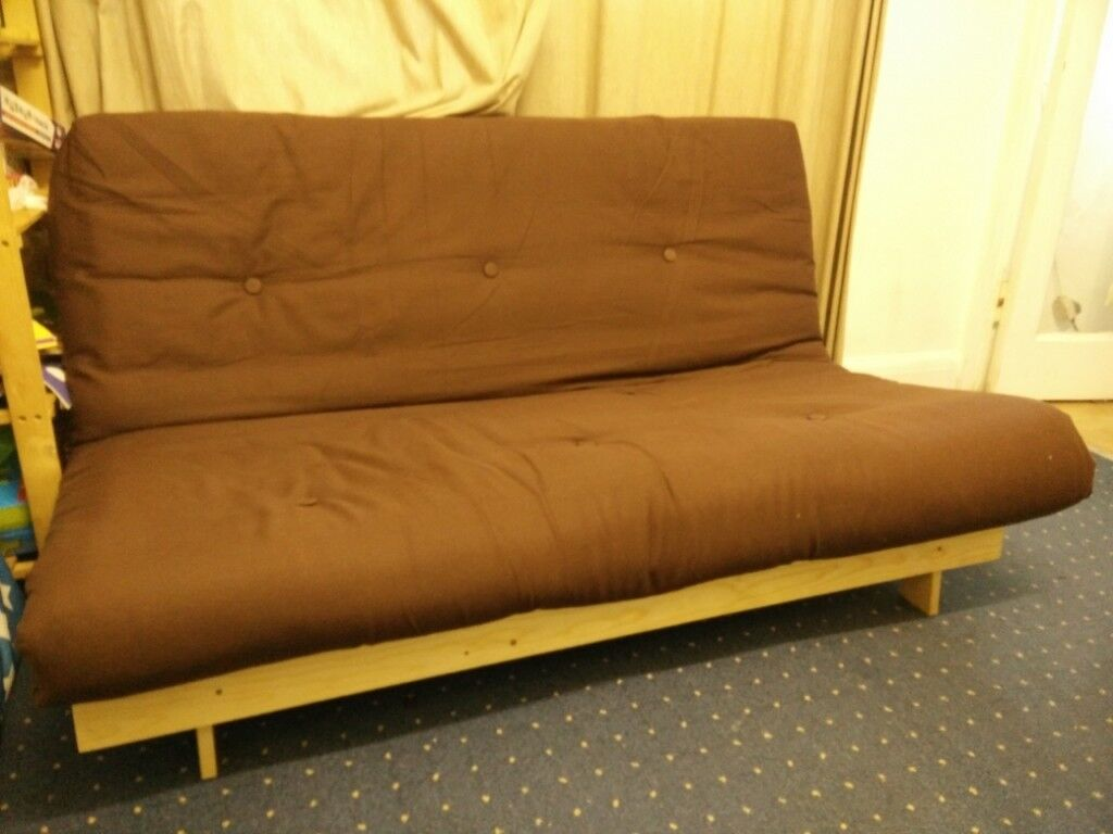Folding Sofa Bed With Futon Mattress And Wodden Frame In Kingsbury London Gumtree