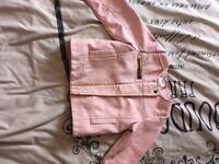 Girls fake leather jacket