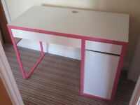 IKEA Childs Micke desk pink