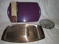Kitchen Carving tray, baking tray and trivet
