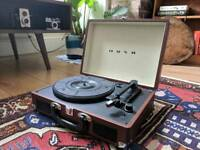 Bush retro turntable record player: brown - unwanted gift